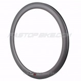 12K Weave 50mm Clincher Aero Wider U-Shape Rim